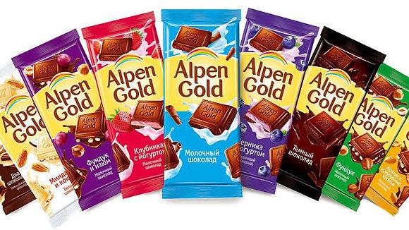 """Шоколад  """"Alpen Gold"""" с начинкой 90 гр."""