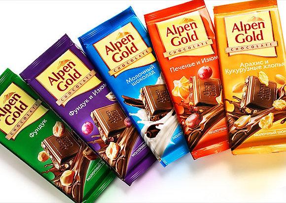 """Шоколад  """"Alpen Gold"""" в ассортименте 90 гр."""