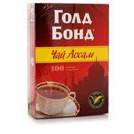 """Чай пакетированный """"Голд Бонд"""" 100 пак"""
