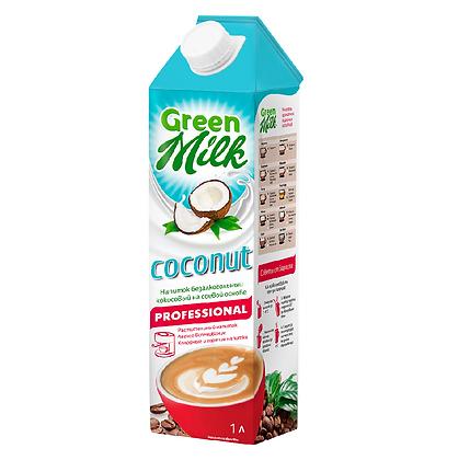 """Green milk Молоко растительного происхождения """"Кокос"""" 1,5% 1л."""