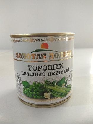 Горошек зеленый консервированный  0,400 кг.