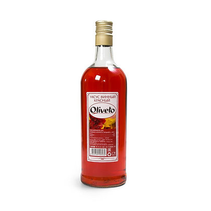 Уксус винный (красный) 1л. Оливетто