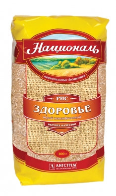 "Рис бурый ""Националь"" 800гр."