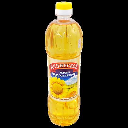 """Масло подсолнечное рафинированное  """"Анинское"""" 0,9"""