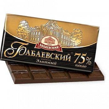 Шоколад  Бабаевский 75% Элитный 100 гр.