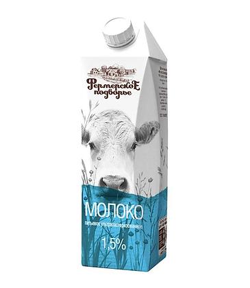 """Молоко """"Фермерское"""" 1,5% тетра-пак 1л."""