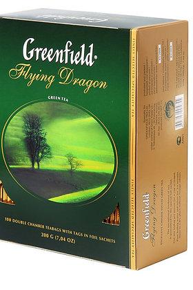 """Чай пакетированный зелёный """"Гринфилд"""" 100 пак"""