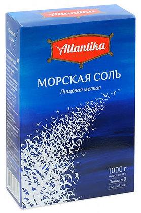 """Соль морская мелкая """"Атлантика"""" 1 кг."""