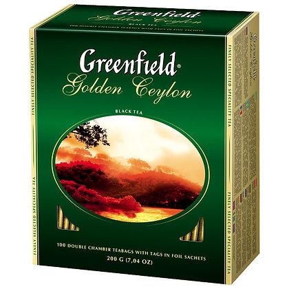 """Чай пакетированный чёрный """"Гринфилд"""" 25 пак"""