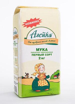 Мука пшеничная Алейка в/с 2 кг