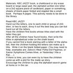 ABC Jazzy Group activity, action, librar