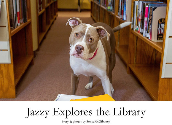 Jazzy Explores the Library