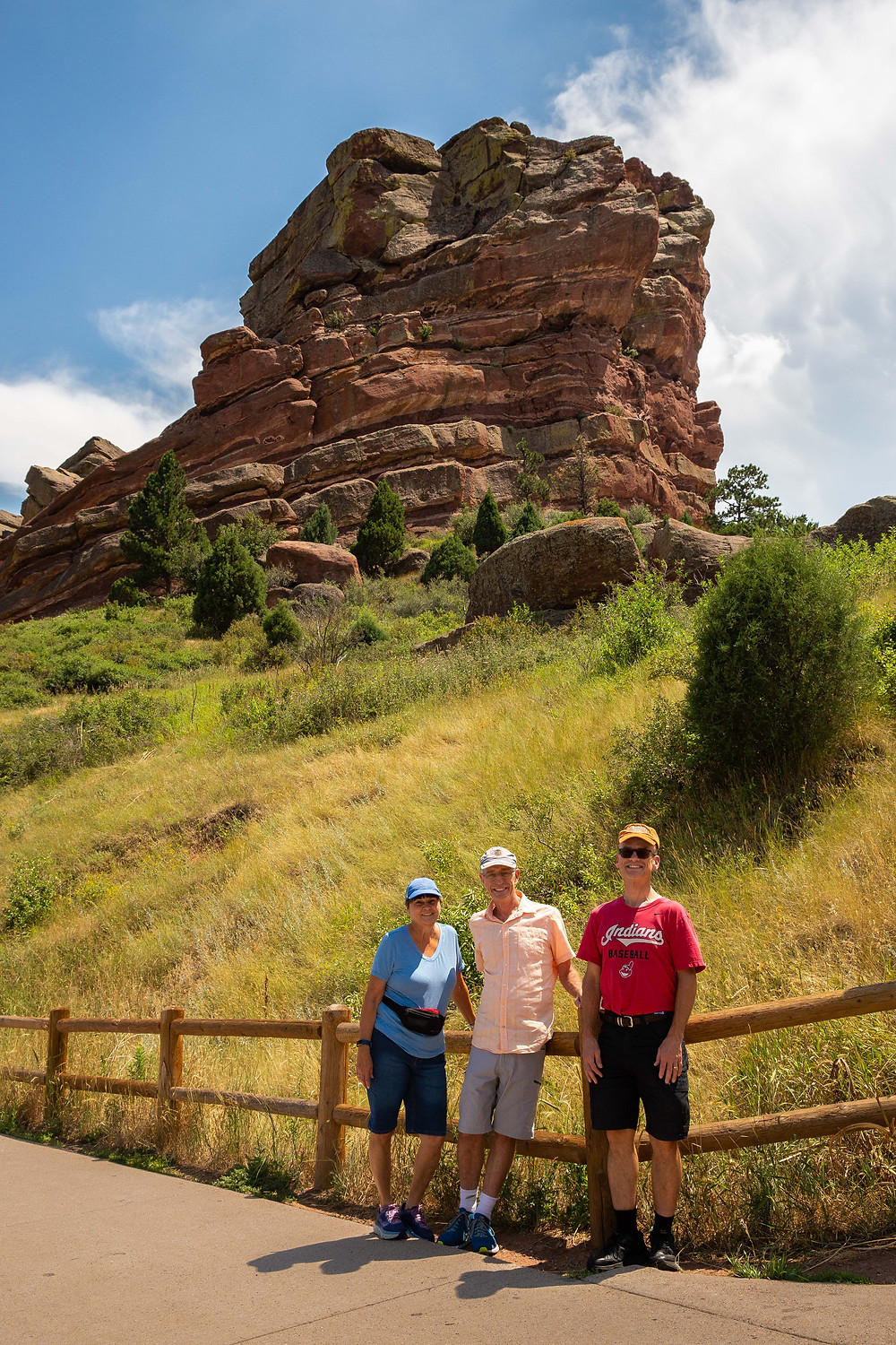 Red Rocks Amphitheatre is an open-air amphitheatre built into a rock structure near Morrison, Colorado, 10 miles (16 km) west of Denver.