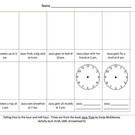 1st Grade - Telling Time - Jazzy Time -