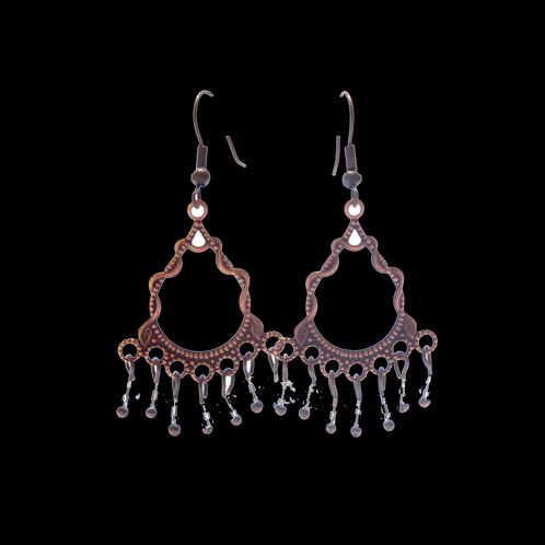 Copper chandelier and crystal earrings tacy lee jewelry copper chandelier and crystal earrings aloadofball Gallery