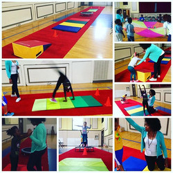 Stage life tumbling at a charity event! Need an activity for your next party_ Contact www.stagelifet