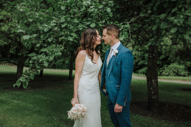 Secret Garden Ceremony. Denise & Quinting - Irish Destination wedding in Boyne Hill House.