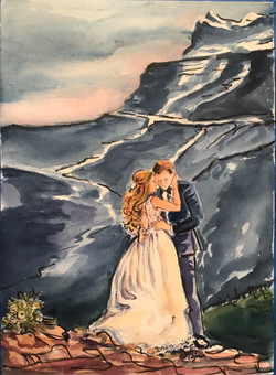 Amanda on a mountain side