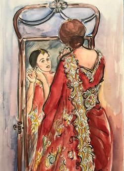 Samantha in the Mirror
