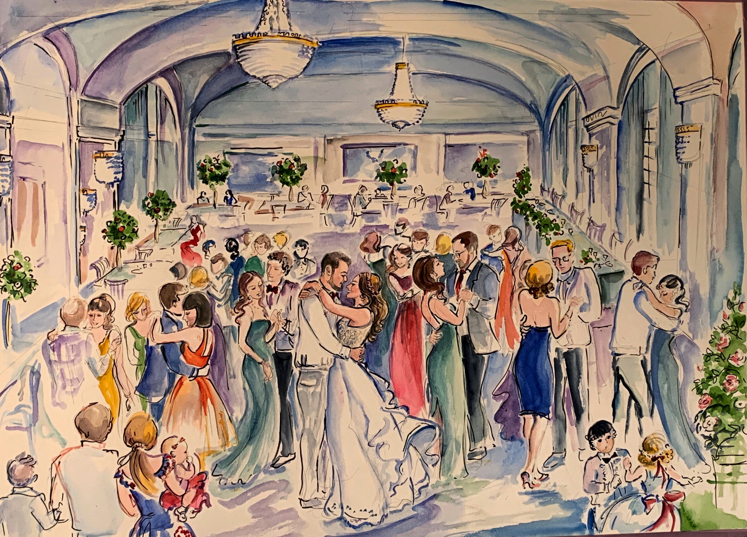 An westin wedding scene