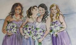 Dayna wedding bridesmaids