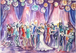 Very first wedding painting