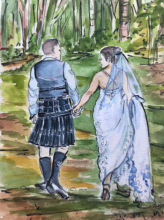 A very Scottish groom