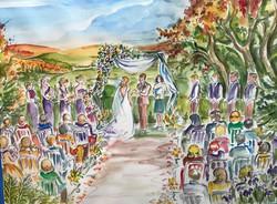 A fall wedding