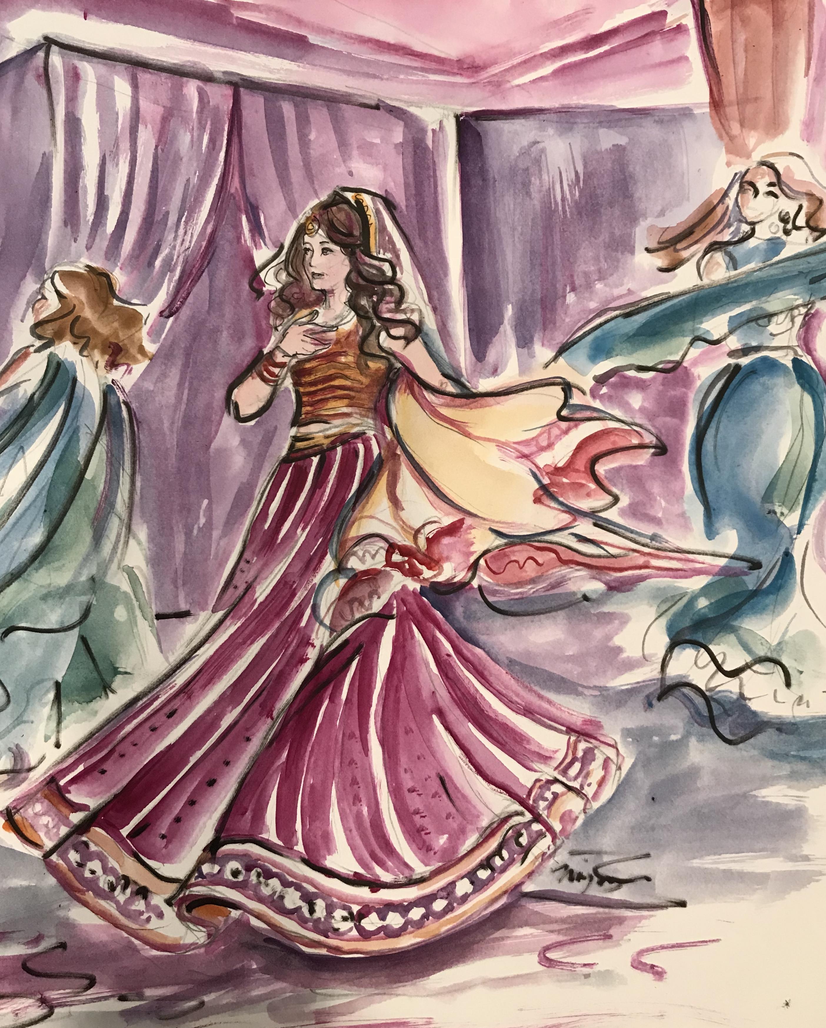 A Sangeet scene