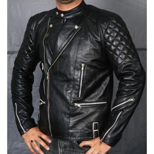 """Metal Motor Bike Jacket Zip 30"""" Black"""