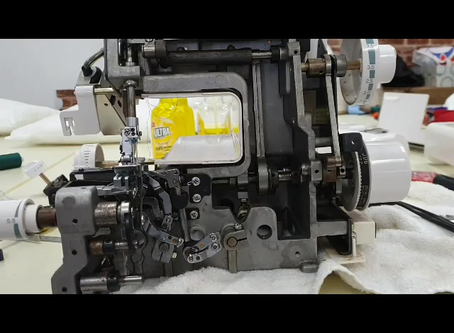 Elna 683 Overlocker Inner Workings