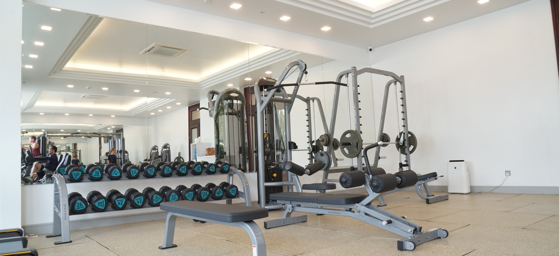 Matrix Flat Benches and Dumbbell Rack