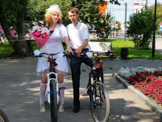 Велолюбовь. В Ульяновске сыграли свадьбу на велосипедах