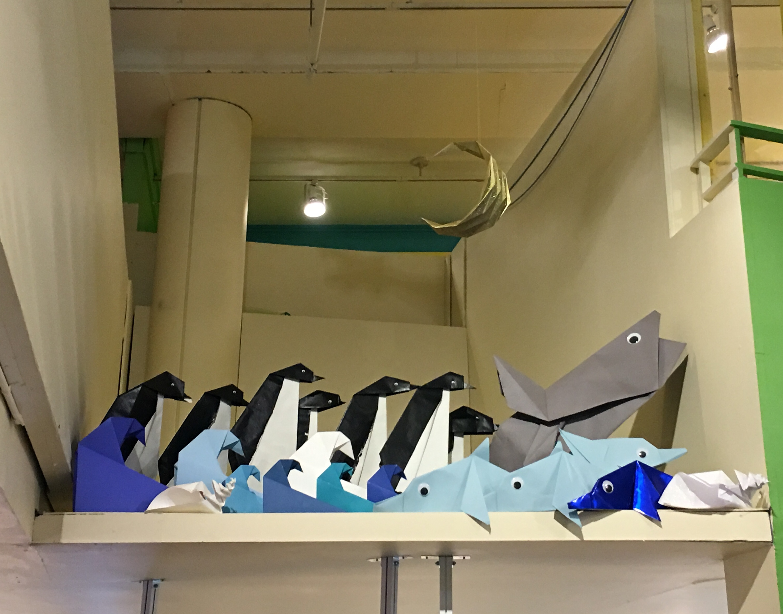 Giant Origami Sea Scene