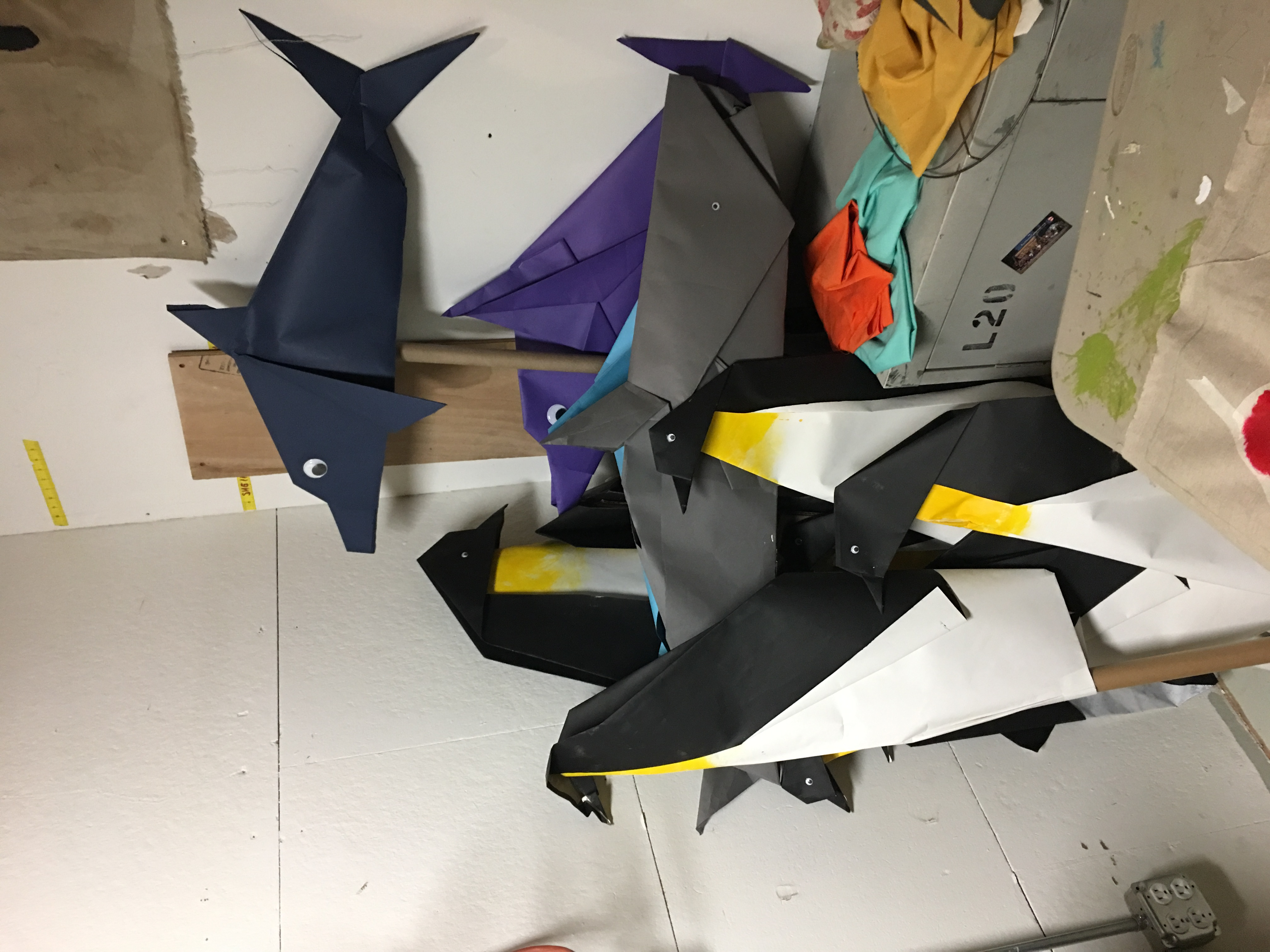 Giant Origami Puppets
