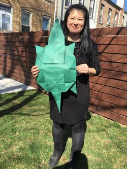 Giant Origami Turtle