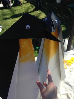 Giant Origami Penguins