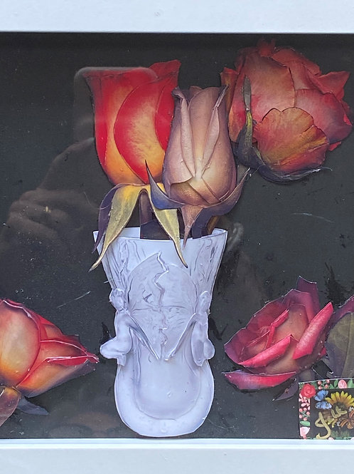 Bud Vase with roses