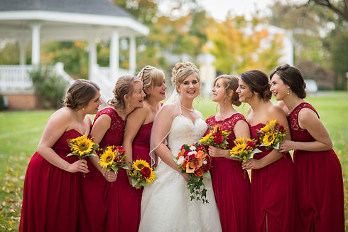 Bridal Party with Perfect Hair from Annex Hair Studio on Location in Carlisle PA