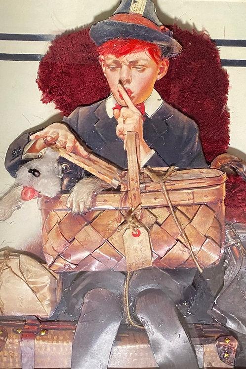 dog and basket