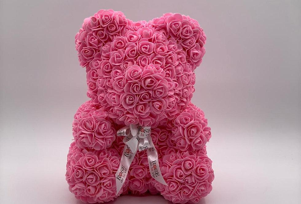 Rosenteddy rosa (40cm) inkl. Geschenkbox