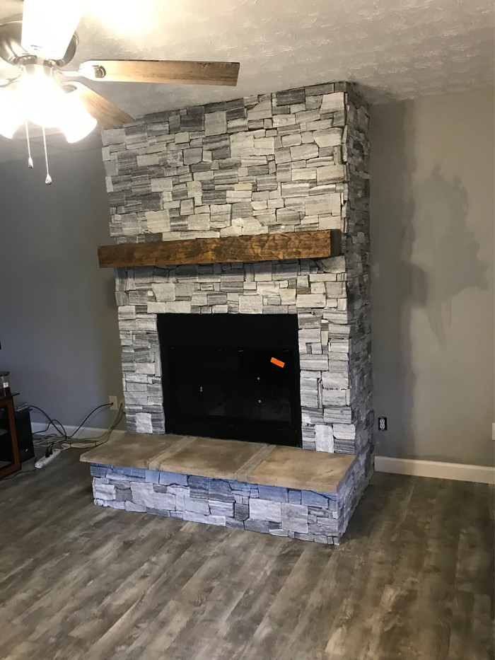 Example of installation of a new wood burning fireplace.