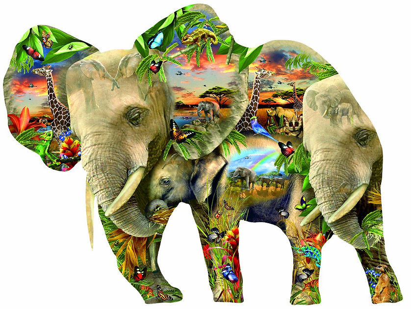 Ele-Phantastic Elephant jigsaw puzzle.jp