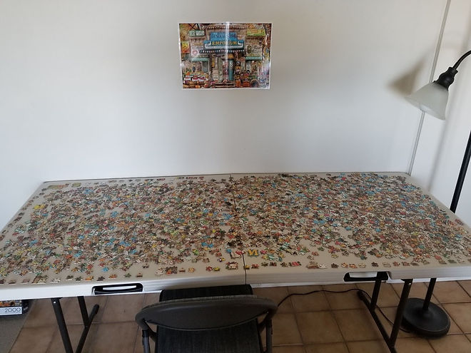 01 - 2000 pieces all laid out face up on
