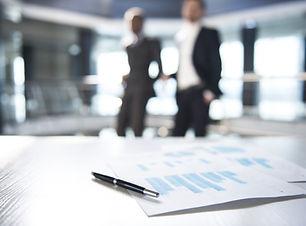 Dokument och suddig Business Män