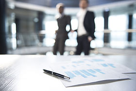 Documents et brouillées Hommes d'Affaires