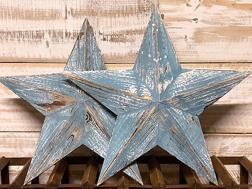 Painted wooden barn stars