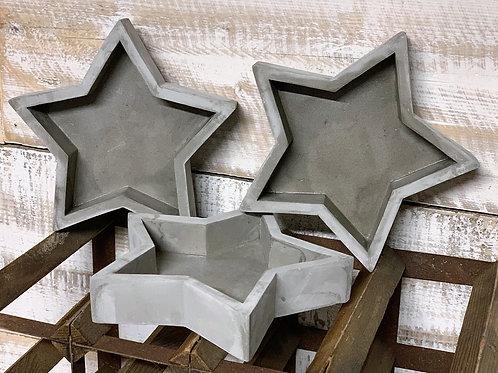 Cement star dish