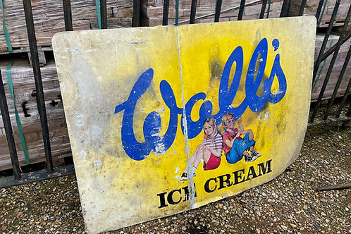 Walls ice cream sign