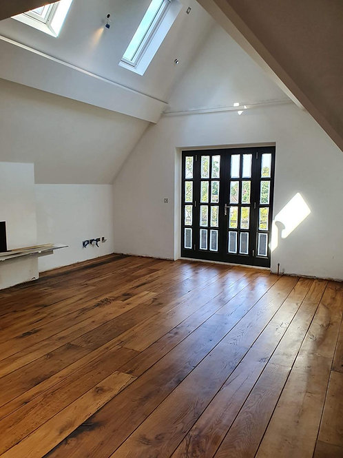 Reclaimed antique oak flooring
